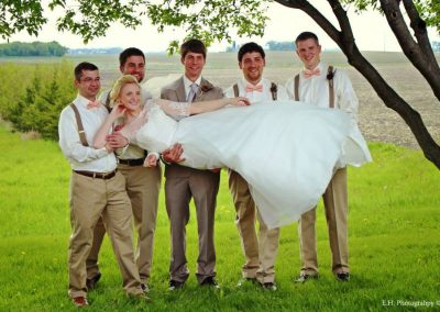 Hannah and the Groomsmen